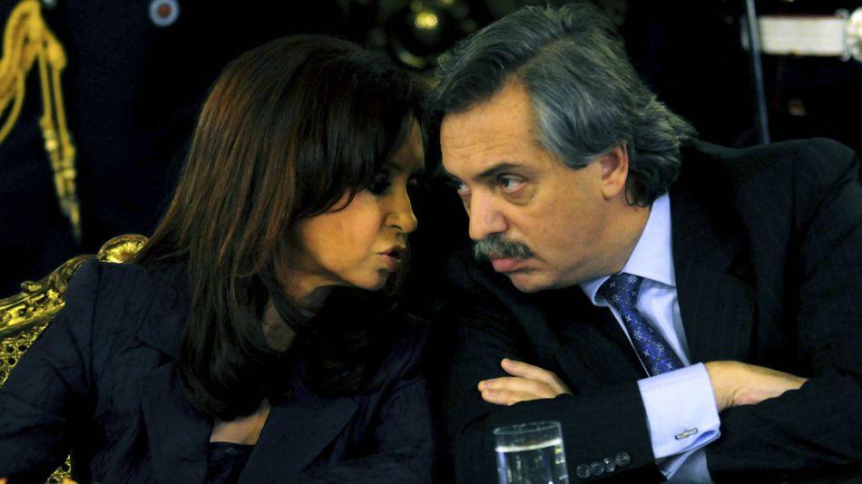 Cristina y Alberto Fernández, en una foto de archivo en tiempos de mieles y rosas.