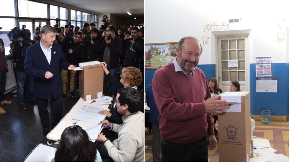 Sergio Ziliotto y Daniel Kroneberger en la votación.
