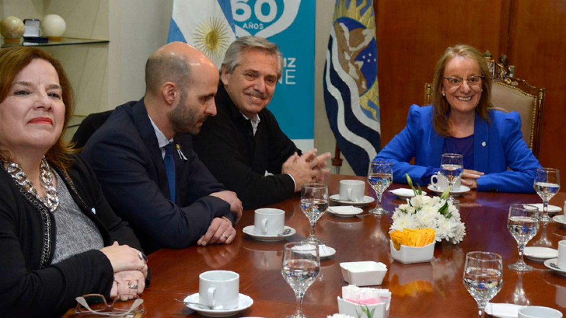 Presidential candidate Alberto Fernández meets with Governor of Santa Cruz province, Alicia Kirchner gobernadora de Santa Cruz Alicia Kirchner on Monday, May 20, 2019.