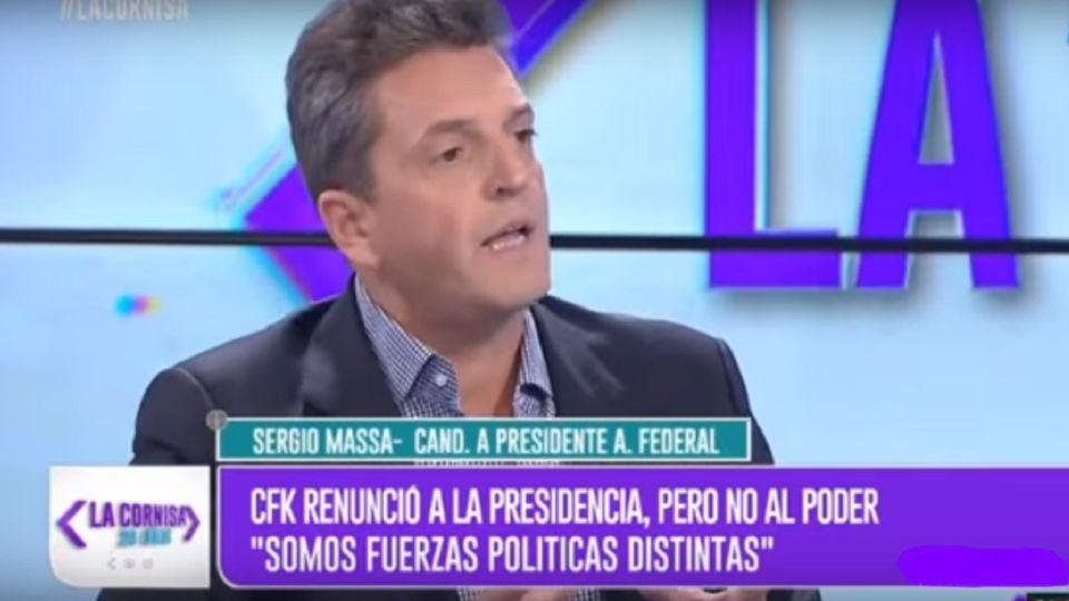 El líder del Frente Renovador, Sergio Massa.