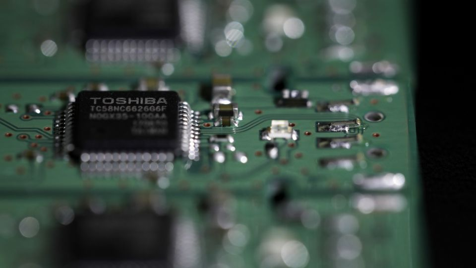 Images Of Toshiba Corp. Flash Memory Products As The Deal To Sell Its Chips Business Near Complete