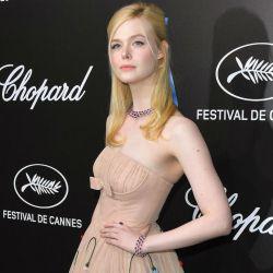 Elle Fanning en la cena de Chopard Trophee, en Cannes