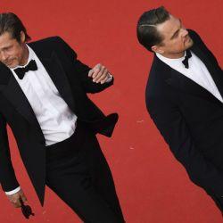 Leo Di Caprio y Brad Pitt en Cannes