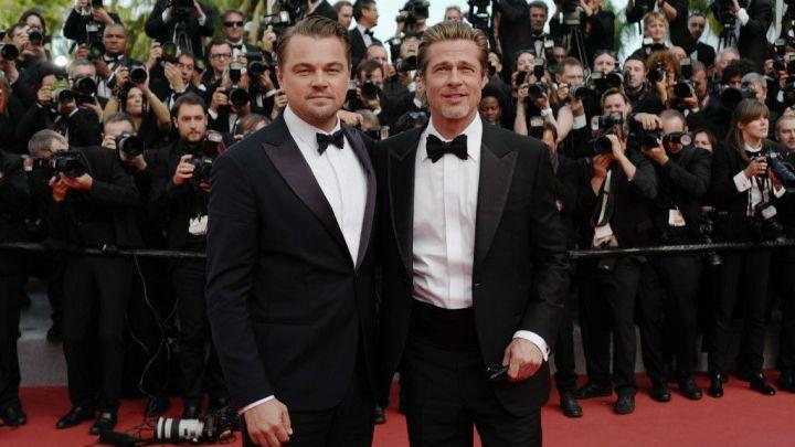 Brad Pitt y Leonardo Di Caprio levantaron suspiros en Cannes