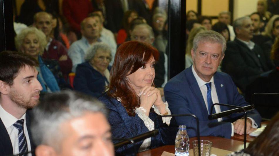 Archivo 2019. Cristina Kirchner durante el proceso judicial, en Comodoro Py.