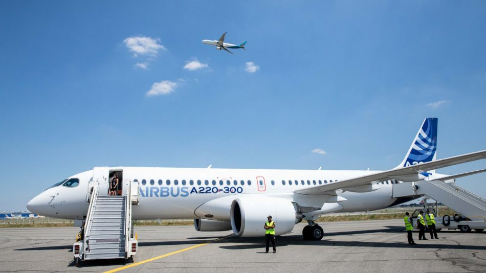 Airbus Unveil New A220 Aircraft