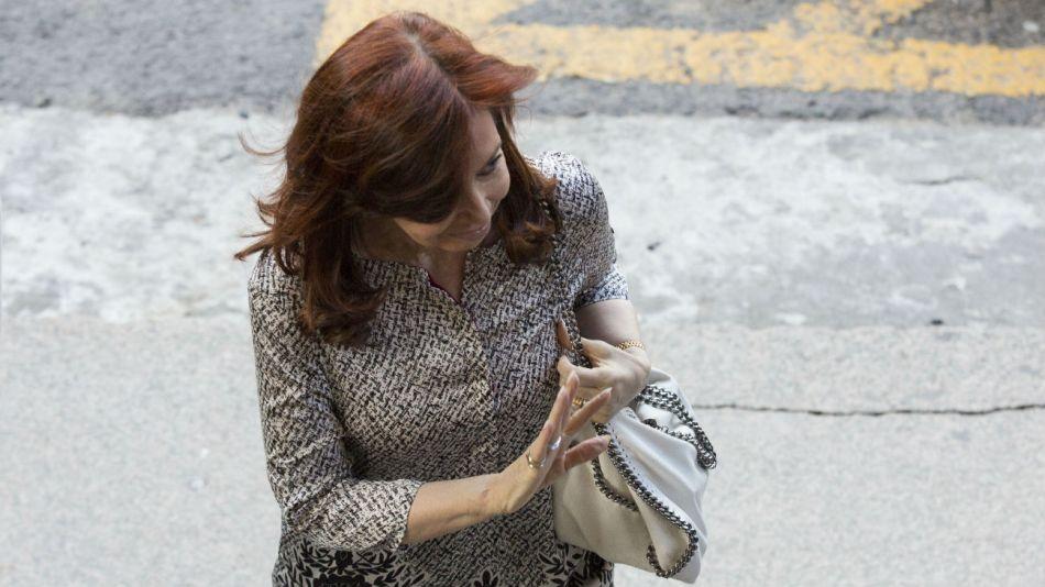 Cristina Fernández de Kirchner en los tribunales de Comodoro Py en febrero del 2019.