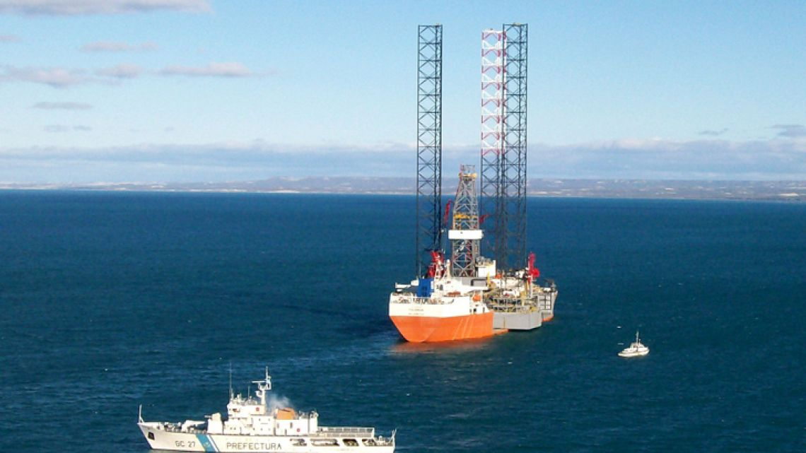 An offshore platform, pictured in a file photo.