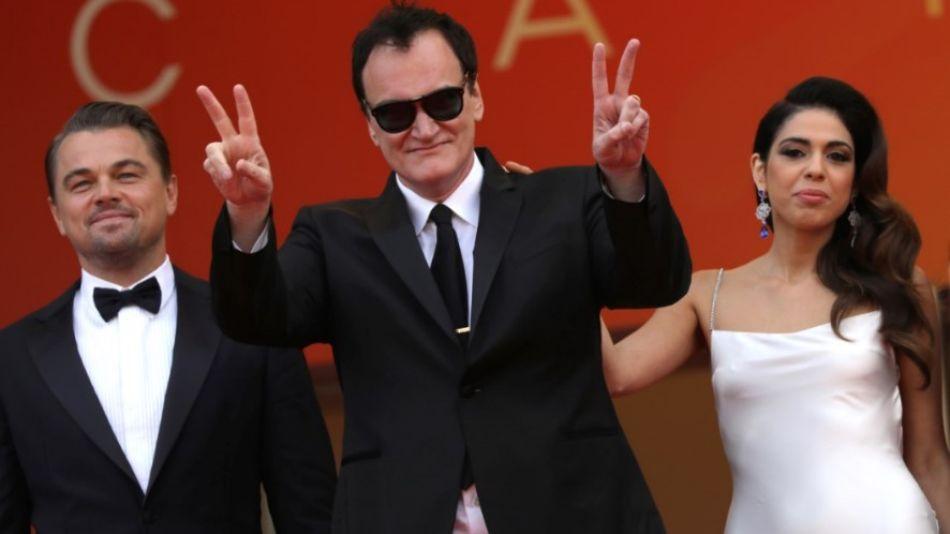 DiCaprio, Quentin Tarantino y su pareja Daniella Pick en Cannes 2019