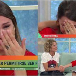 Pampita, emocionada hasta las lágrimas