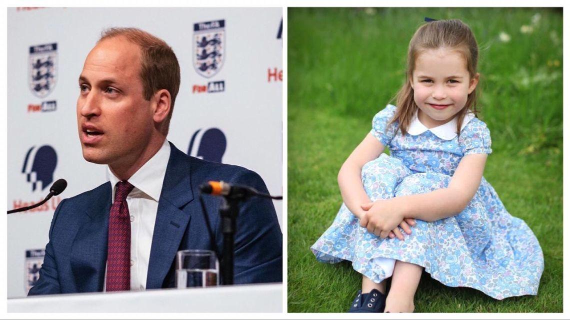 El Príncipe Willian y su hija, Charlotte