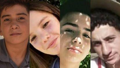 Danilo, Camila, Gonzalo y Aníbal. Fallecieron en la madrugada del lunes 20 de mayo.