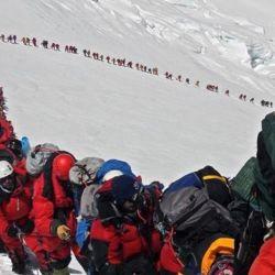 Unos 250 montañistas salieron del campo IV (7.900 metros) durante la noche del martes.