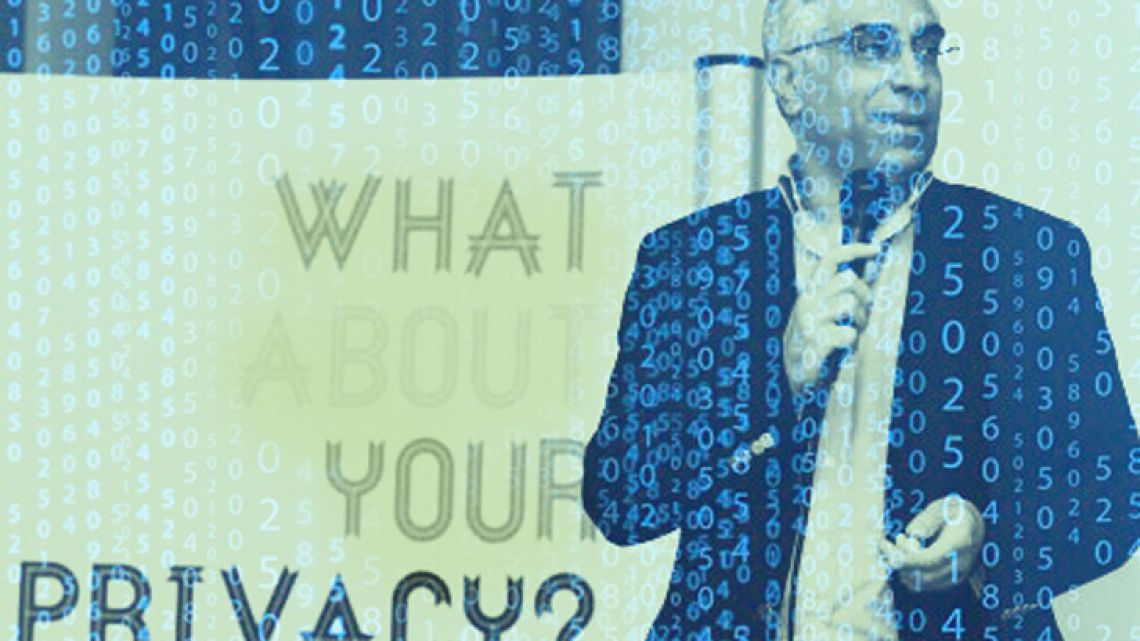 UN Special Rapporteur on Privacy Joseph Cannataci. Image modified by Joaquín Temes.