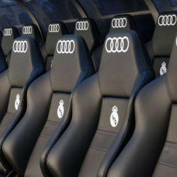 El banco de suplentes del Real Madrid de España.