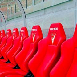 El banco de suplentes del F.C. Kaiserslautern de Alemania.