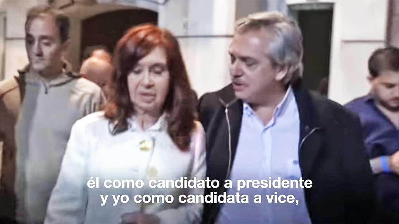 """Cristina. Fue la """"reina"""" del domingo pasado con su anuncio a la vicepresidencia con Alberto Fernández."""