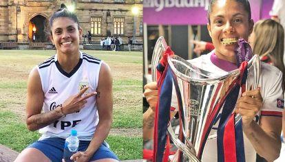 Campeona. Soledad en la Selección y con la copa de la Champions League 2019.