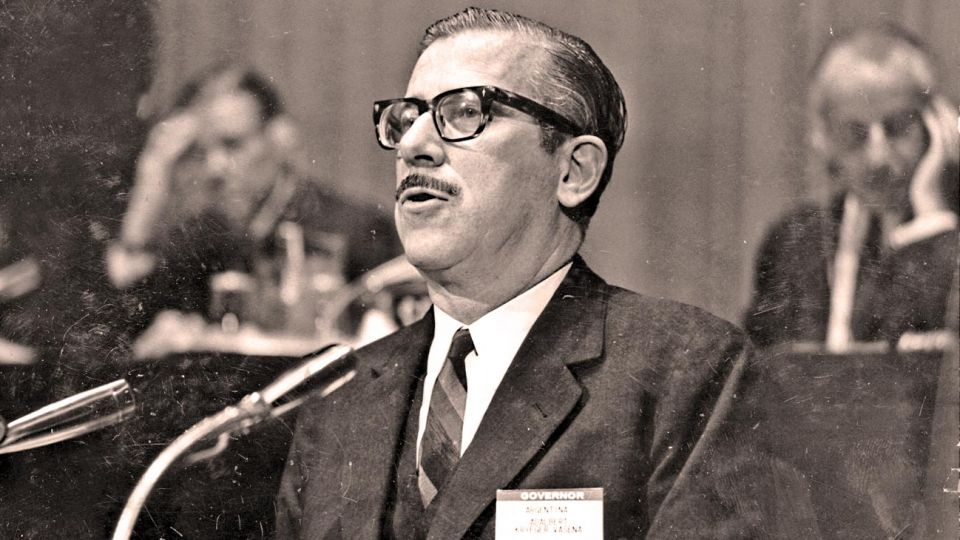 Krieger Vasena. El ministro de Juan Carlos Onganía que implementó las políticas que llevaron a las manifestaciones callejeras.