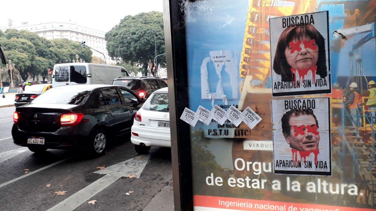 Aparecieron afiches con amenazas de muerte a Patricia Bullrich y Cristian Ritondo