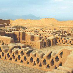 Las series romboidales son un rasgo muy propio  de las ruinas de Chan Chan.