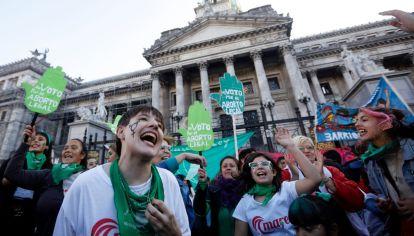 La marea verde volvió al Congreso.