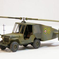 El ejército británico desarrolló un arma experimental que básicamente era la fusión entre un jeep y un helicóptero.