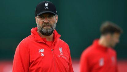 Jürgen Klopp, DT del Liverpool, en el entrenamiento previo a la final de la Champions League.