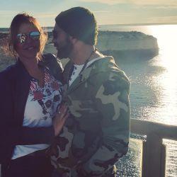 Nazarena Vélez y su novio