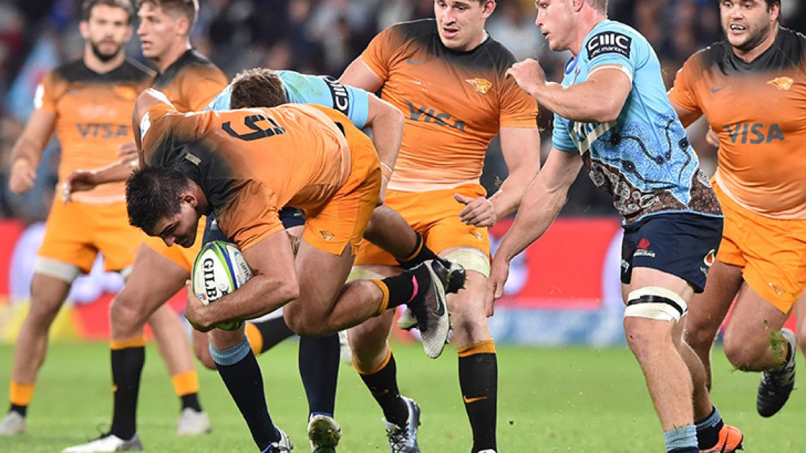 Australia's NSW Waratahs and Argentina's Jaguares meet at BankWest Stadium in Sydney on May 25, 2019.