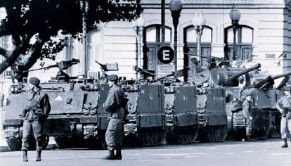 Militares, durante la última dictadura cívico militar.
