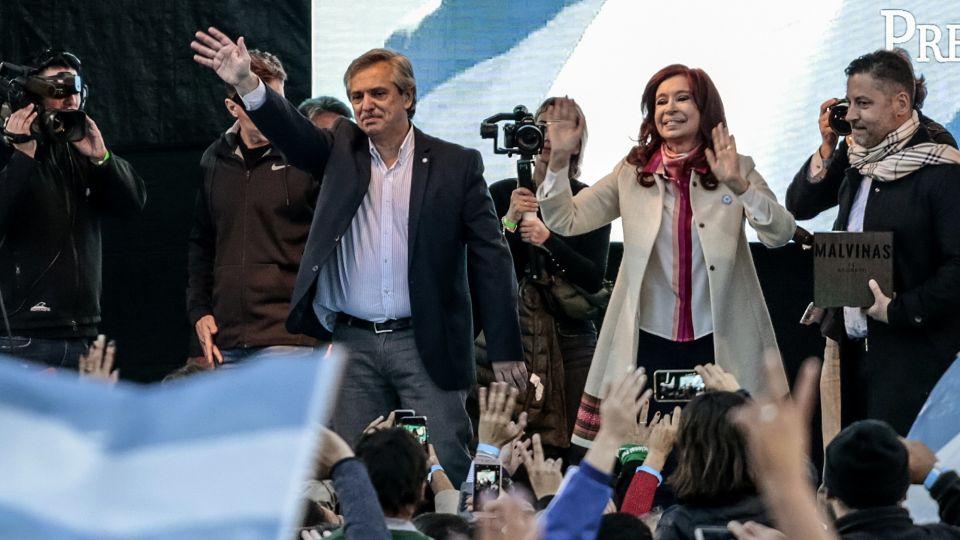 Presidential Candidate Alberto Fernandez And Running Mate Cristina Fernandez De Kirchner Hold First Rally