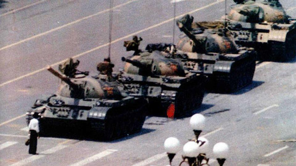 Histórica imagen de la plaza Tiananmen.