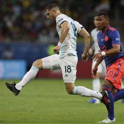 Brazil Soccer Copa America Argentina Colombia