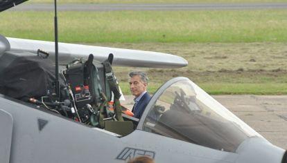 VUELVE. En diciembre de 2018, el Presidente visitó la Fábrica de Aviones. Ahora, llega en tono de campaña.