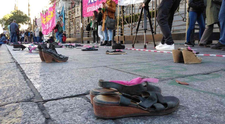 Intervención frente al Congreso en conmemoración de las víctimas de femicidios.