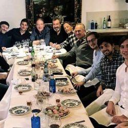 Tinelli junto a Vila, Manzano, Hochbaum y Belocopitt