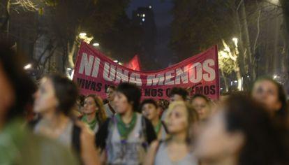 Ni una menos. Miles de mujeres marcharon en Buenos Aires contra la violencia machista.