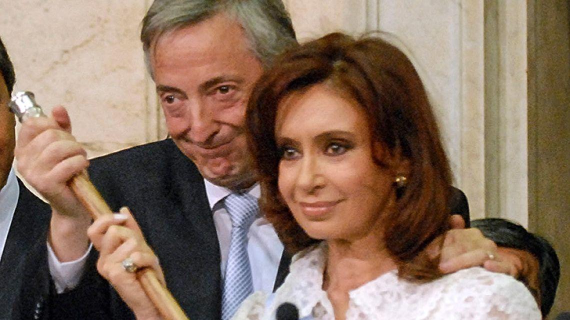 Néstor Kirchner and Cristina Fernández de Kirchner.
