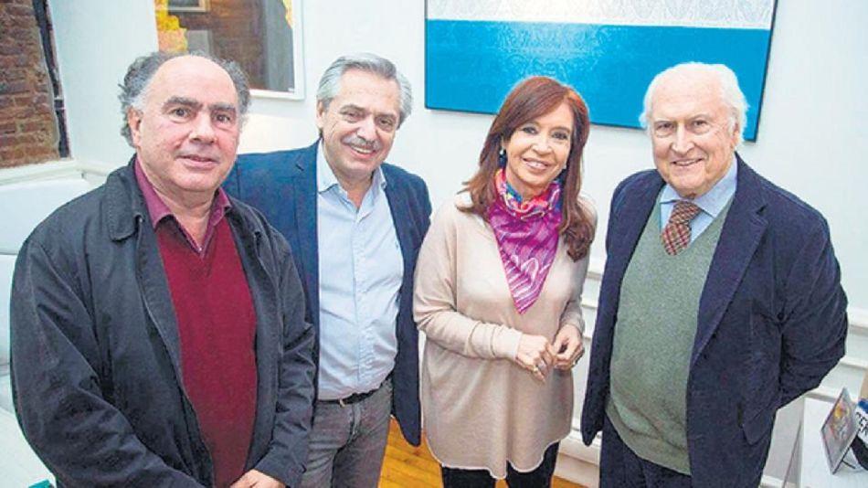 Cristina Fernández, Alberto Fernández, Mario Cafiero y Pino Solanas