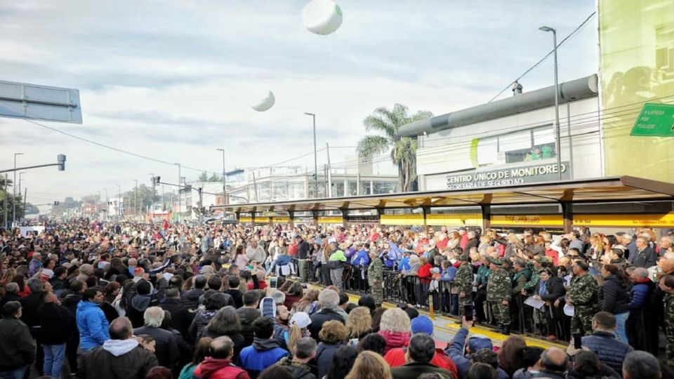Inauguración Metrobus Quilmes.
