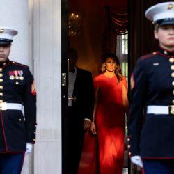 Melania Trump homenajeó a Meghan Markle