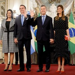 Almuerzo en Casa Rosada de Macri y Bolsonaro