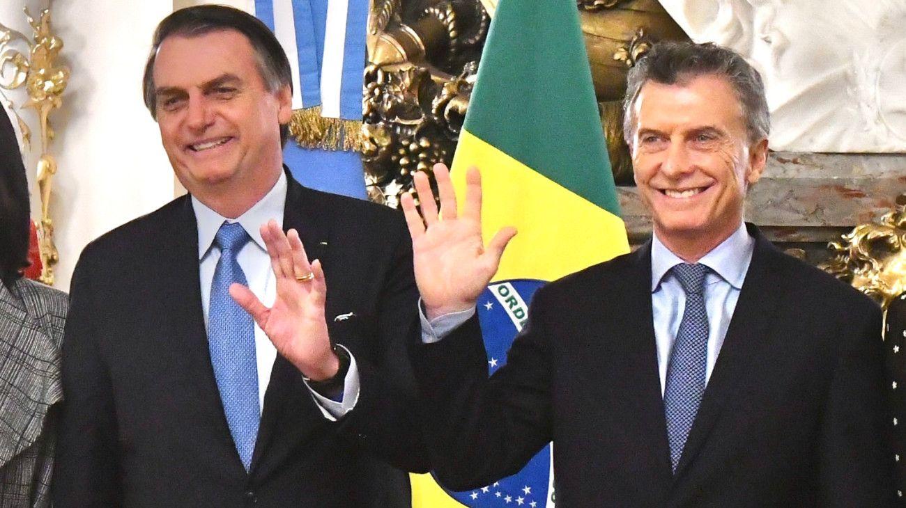 El presidente Mauricio Macri recibió a su par de Brasil, Jair Bolsonaro, en su primera visita oficial al país.