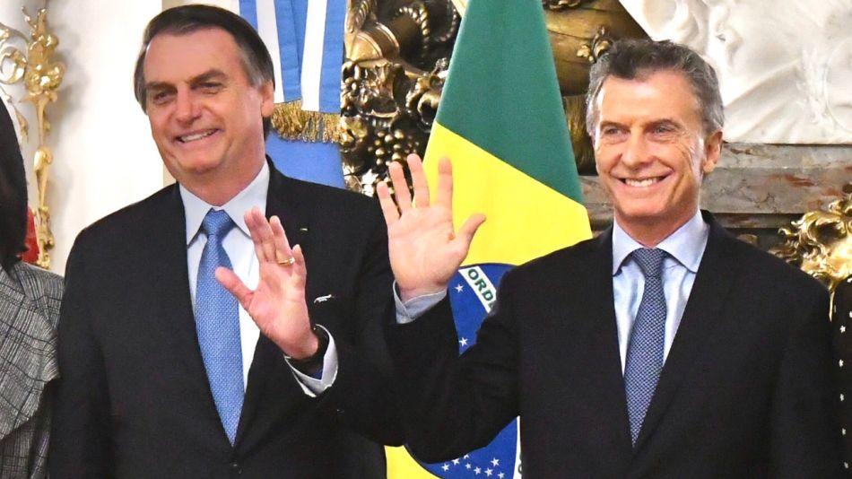 Mauricio Macri recibió a Jair Bolsonaro.