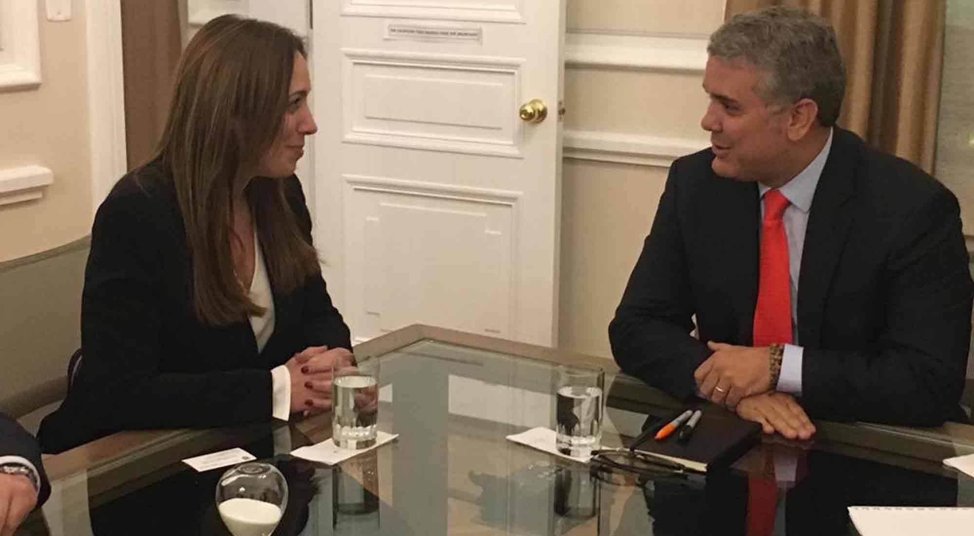 Vidal se reunió con Duque en Colombia
