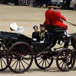 Meghan Markle reapareció en el cumpleaños de la Reina Isabel II