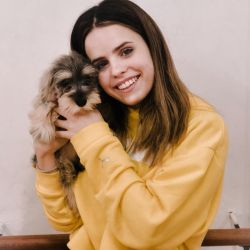 Sofi Morandi y su mascota Toto