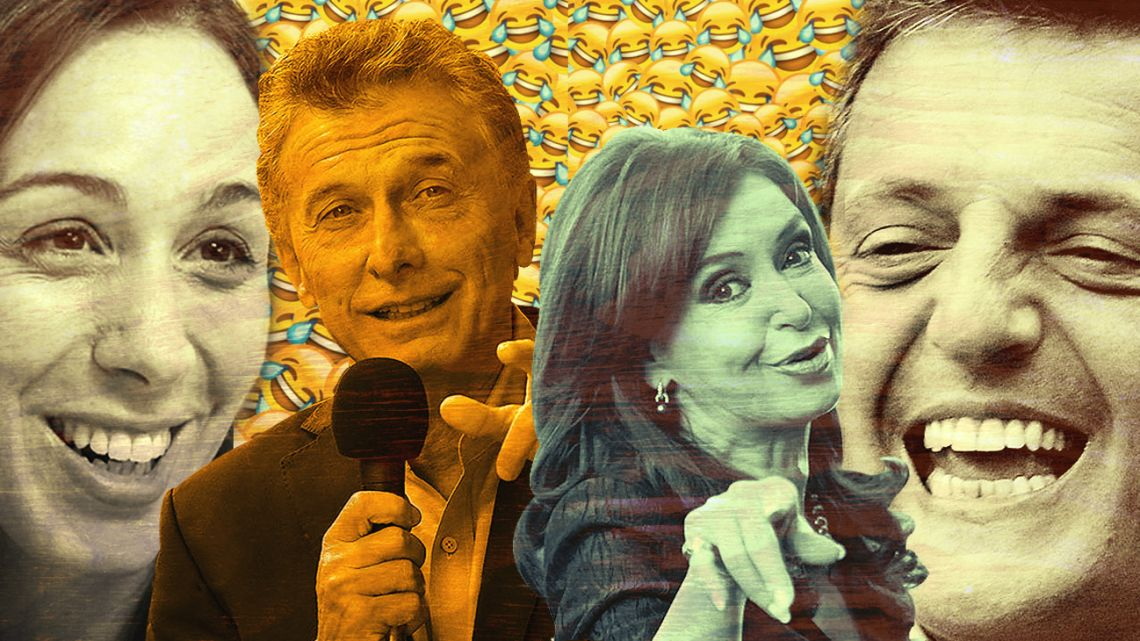 Vidal, Macri, Cristina and Massa.