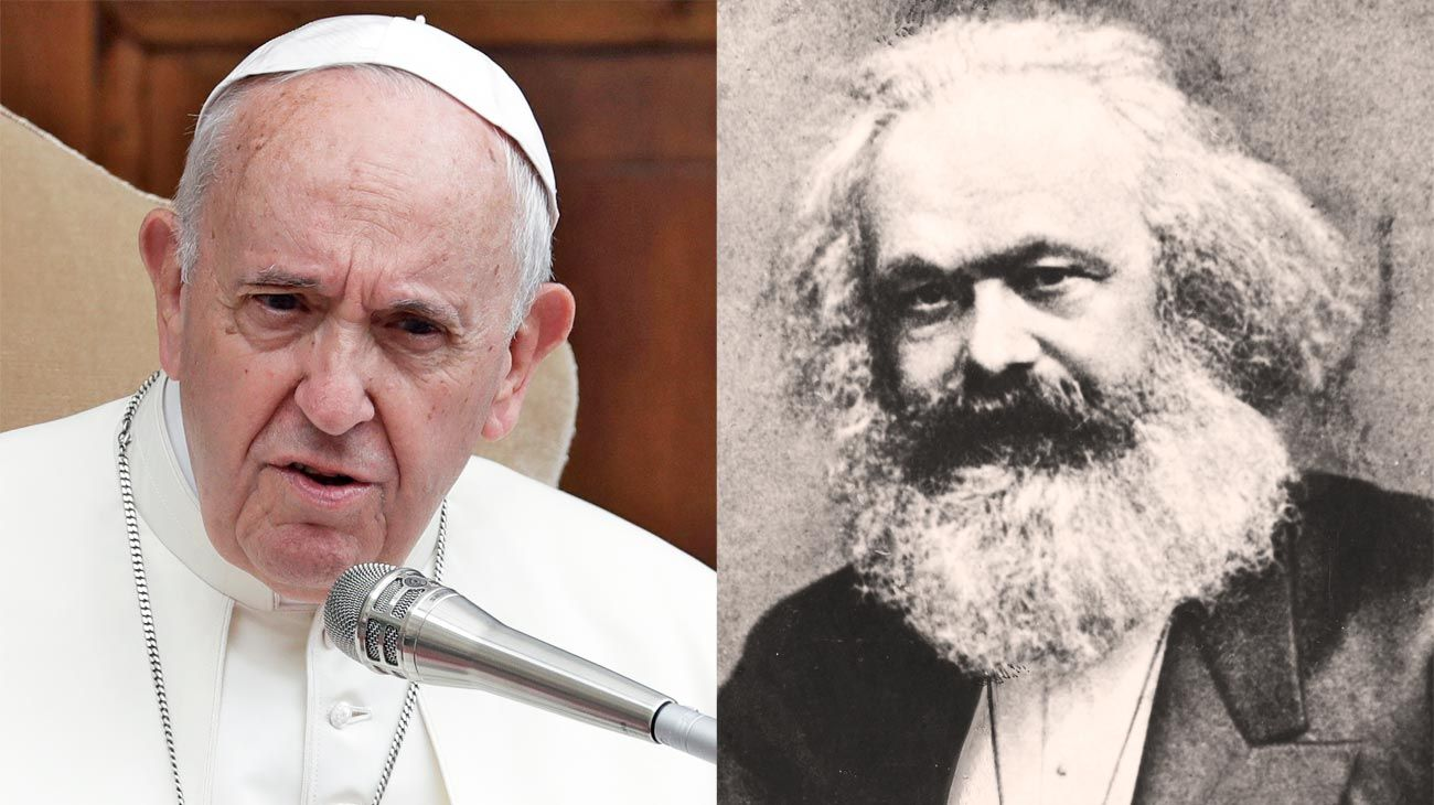 Marx y el Papa. Francisco comparó hacerse un aborto con contratar a un sicario. Marx habla de gravidez social.